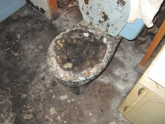 Overflow Clogged Toilet